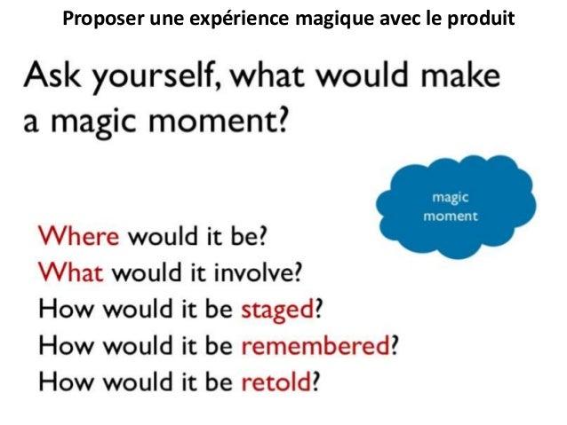 Proposer une expérience magique avec le produit