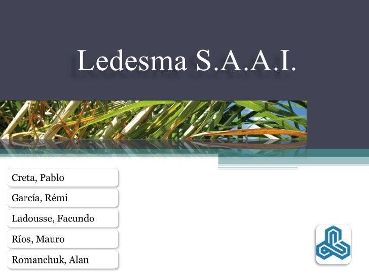 Ledesma S.A.A.I.