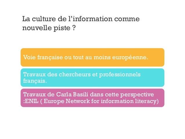 La culture de l 39 information en sept le ons et les enjeux du num rique - Culture de l echalote ...