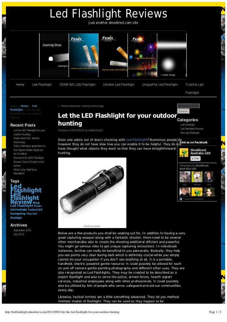 Led Flashlight Reviews                                                                    Just another dinodirect.com site...