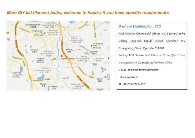 Led filament bulb catalog by Danfore