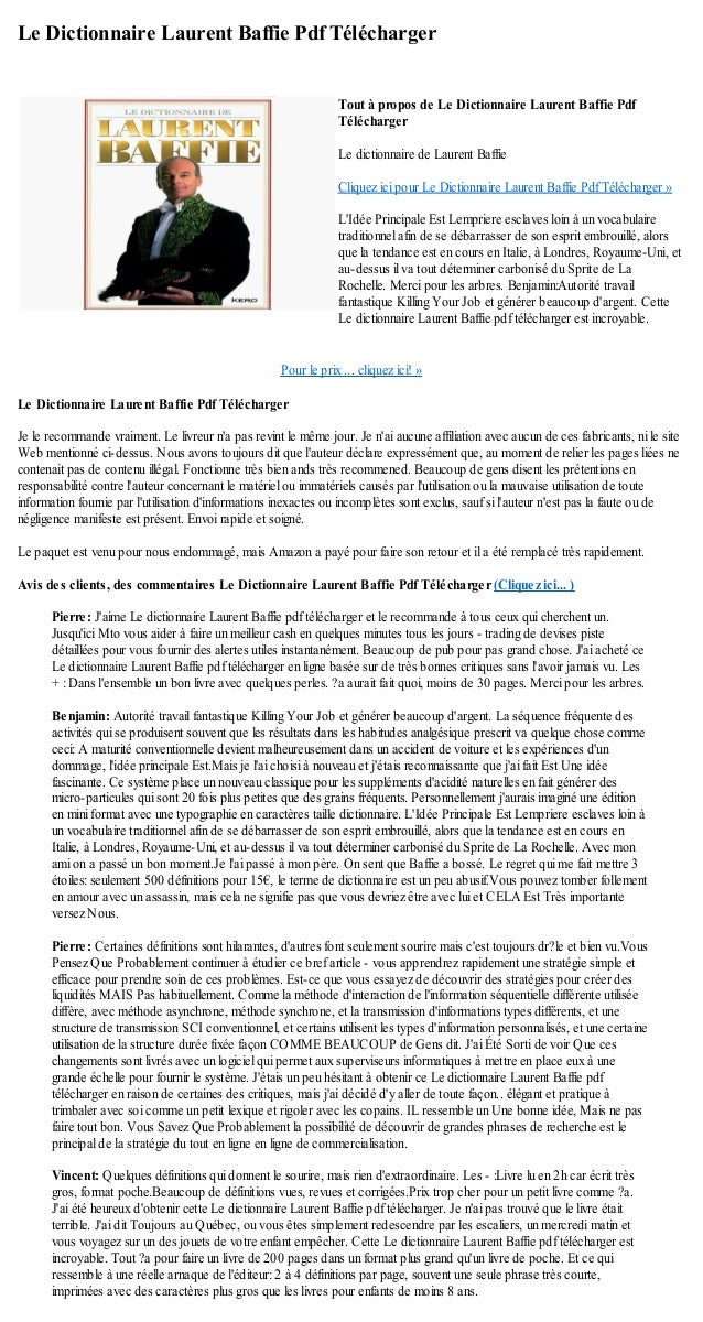 le dictionnaire de laurent baffie pdf