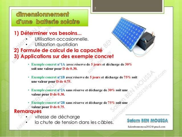 Le dimensionnement d'une batterie en installation solaire Slide 2