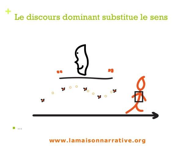 + Le discours dominant substitue le sens n … 1 www.lamaisonnarrative.org