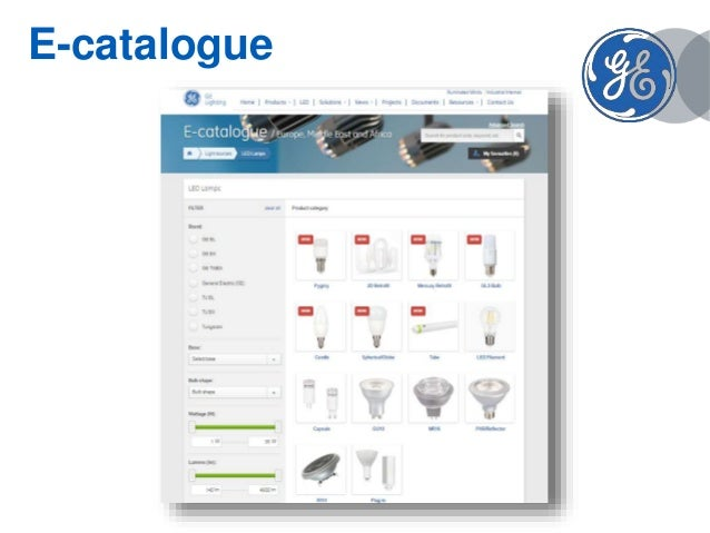 Ge Led Lamps Product Presentation