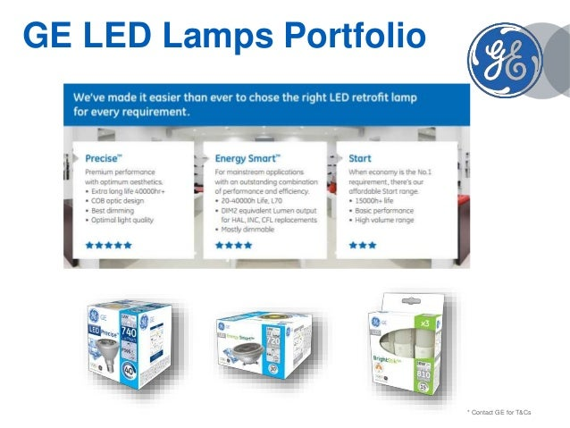 GE LED Lamps - Product presentation