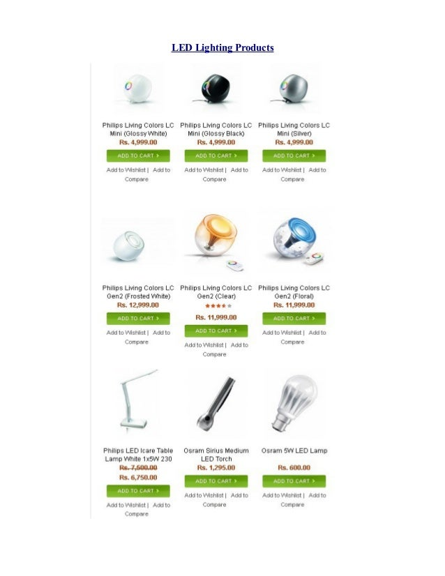 LED Lighting Products