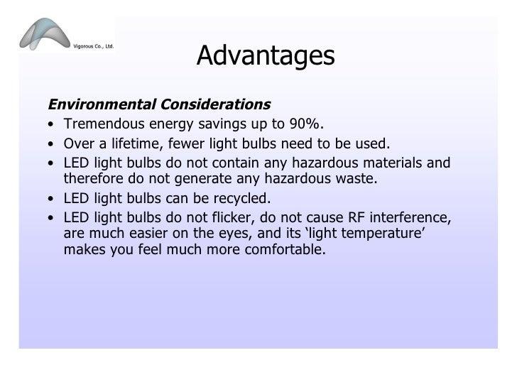 Advantages Environmental Considerations ...  sc 1 st  SlideShare & LED Lighting Presentation_102009 azcodes.com