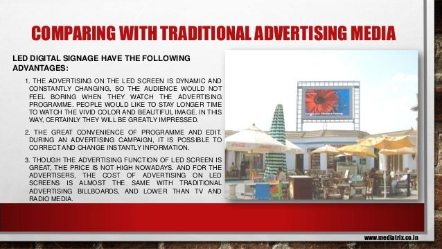 Sales/Marketing Proposal for Indoor LED screen