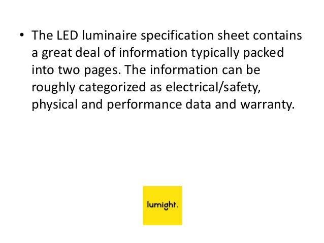 3.  sc 1 st  SlideShare & Lumight LED Lighting | Led Luminaire Spec Sheet