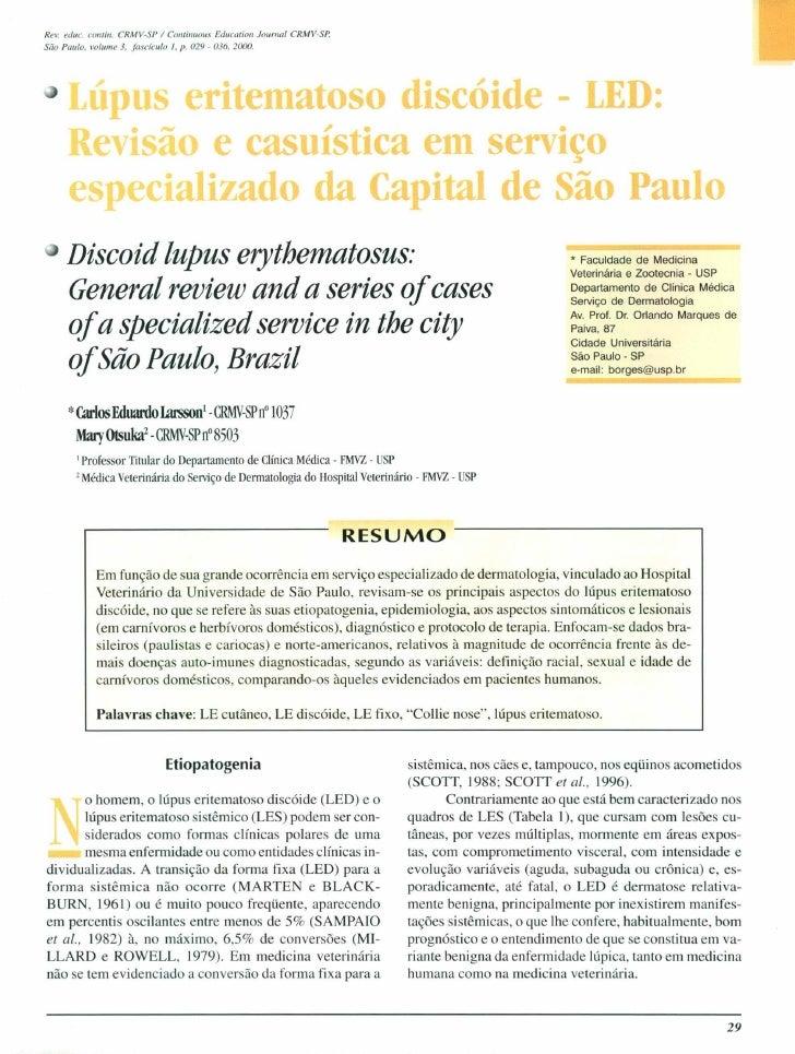 ReI. educo contül. CRMV·SP / COlllillUOIM Educa/iOfl JourTllIl CRMV·SP,São Palllo. lIo/ume 3. fascículo /, p. 029 - 036, 2...