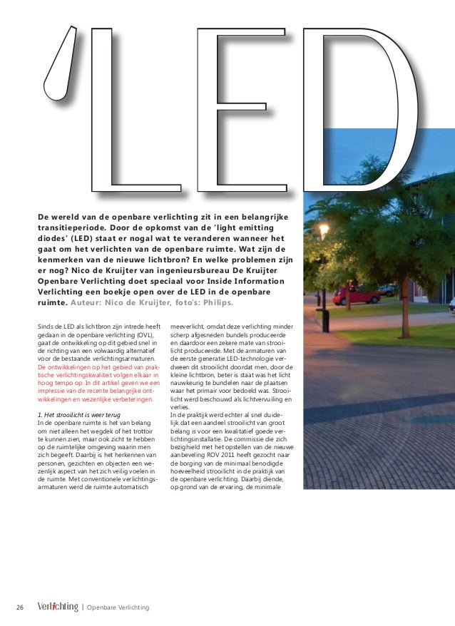 LED openbare verlichting ontwikkelt zich revolutionair