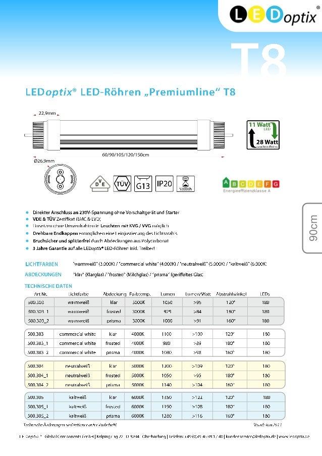 LEDoptix Premiumline LED-Röhren Katalog Slide 3