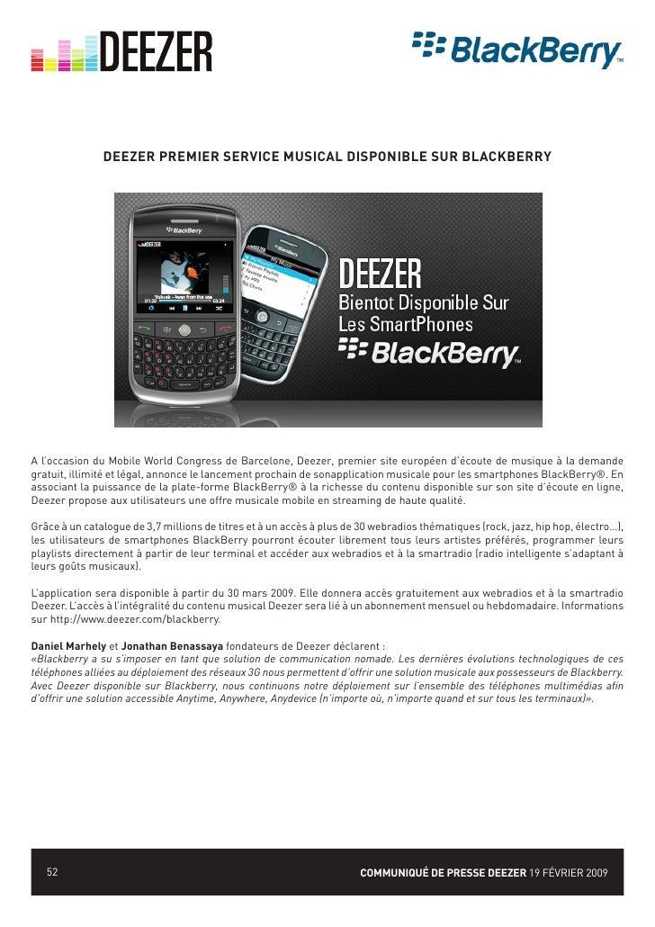 deezer sur blackberry curve 8520