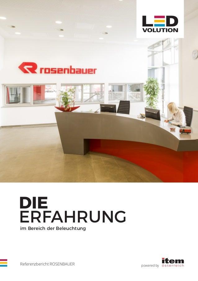 powered byReferenzbericht ROSENBAUER DIE ERFAHRUNGim Bereich der Beleuchtung