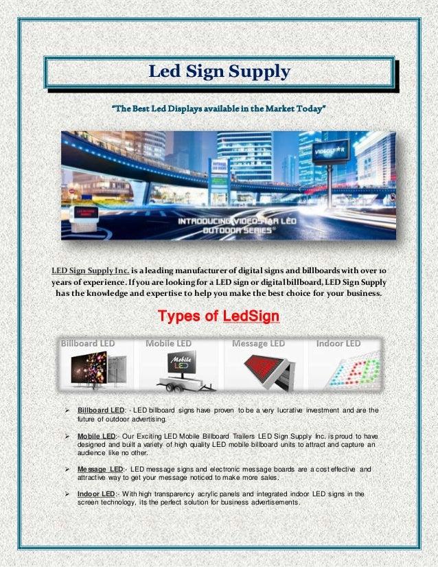 Electronic LED Signs
