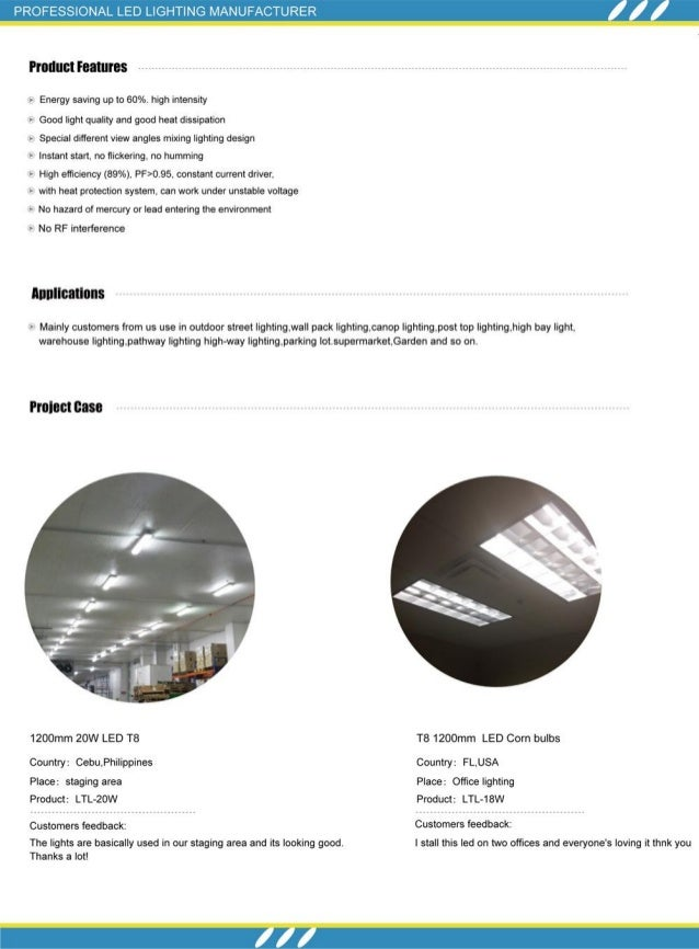 LED T8 Tube Series Specification