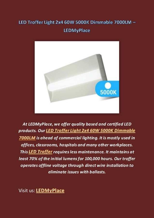 LED Troffer Light - LEDMyPlace