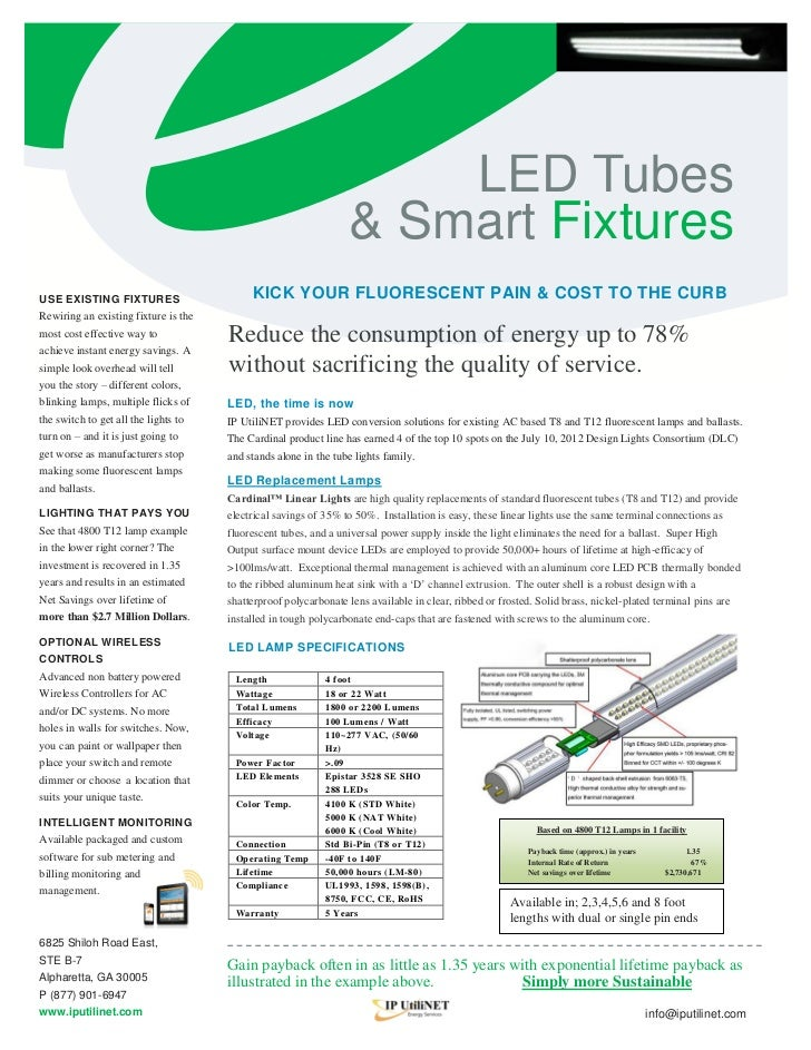 LED Tubes                                                                 & Smart FixturesUSE EXISTING FIXTURES           ...