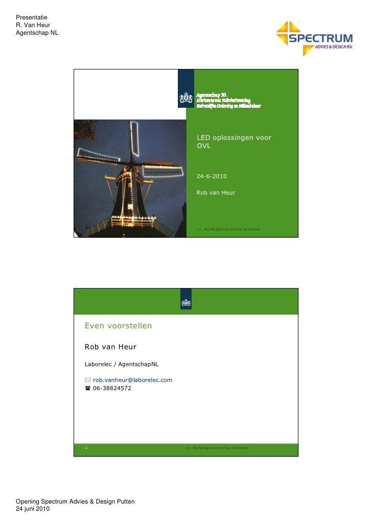 led verlichting voor ovl presentatie r van heur agentschap nl