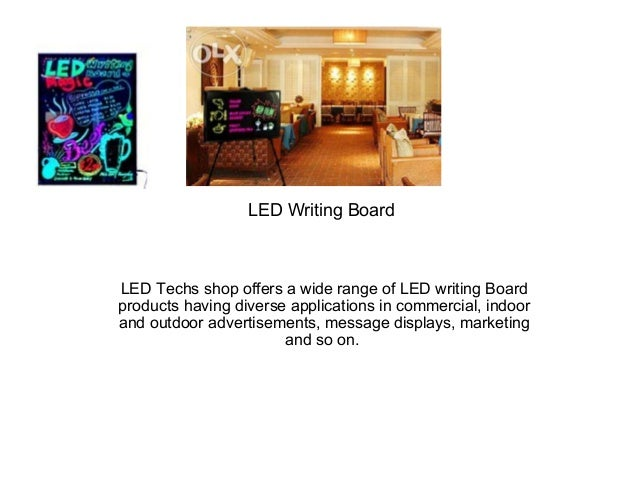 LED Writing Board LED Techs shop offers a wide range of LED writing Board products having diverse applications in commerci...