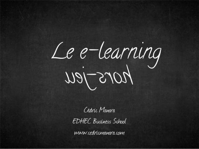 Exception pedagogique : le e learning hors-jeu