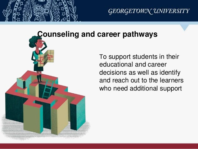 Counseling and career pathways To support students in their educational and career decisions as well as identify and reach...