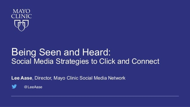 Being Seen and Heard: