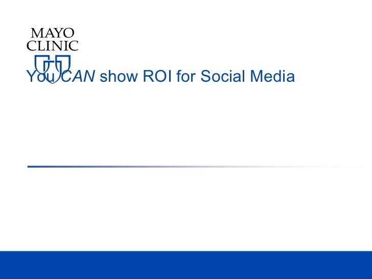 You CAN show ROI for Social Media