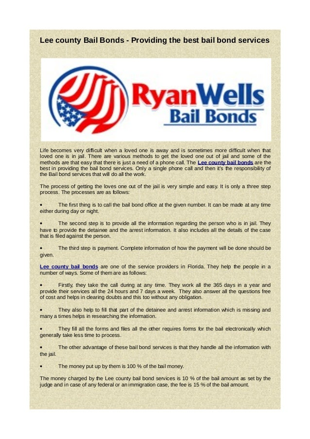 Lee county Bail Bonds - Providing the best bail bond services     Life becomes very difficult when a loved one is away and...