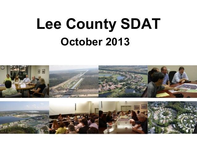 Lee County SDAT October 2013