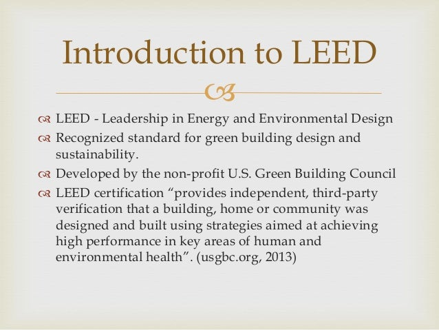 Leed certification for Advantages of leed certification
