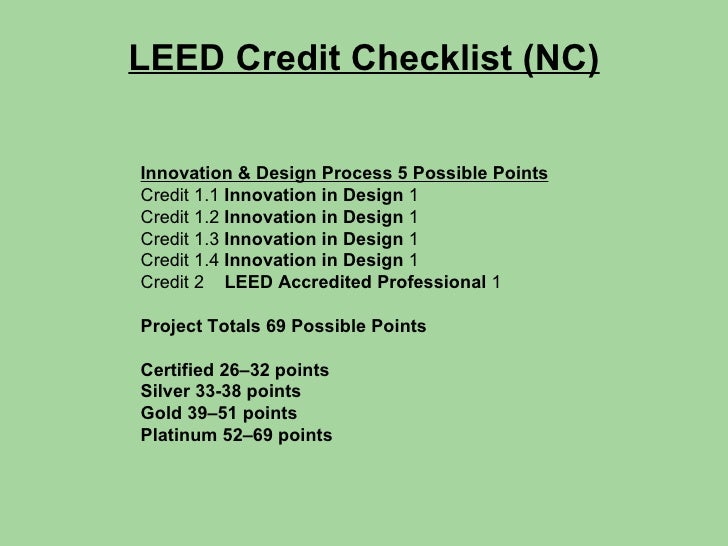 Leed Civil Engineering Strategies