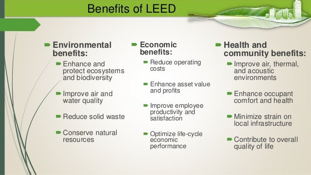 Leed for Benefits of leed
