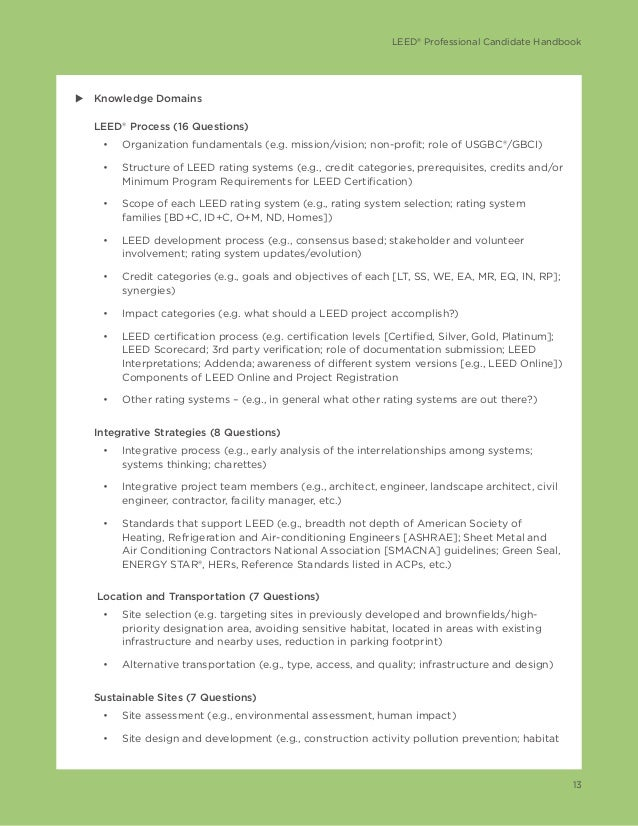 Leed v4 green associate candidate handbook for Leed for homes rating system