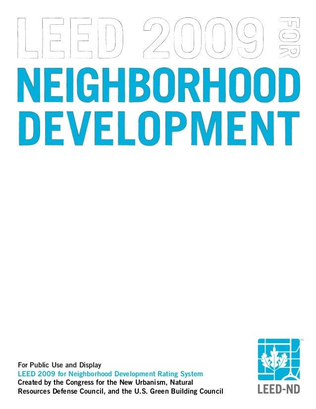 Leed 2009 For Neighborhood Development Rating System