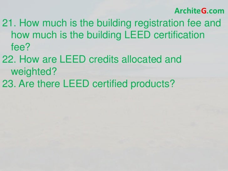 Leed bd c exam prep green building leed certification for Benefits of leed certified buildings