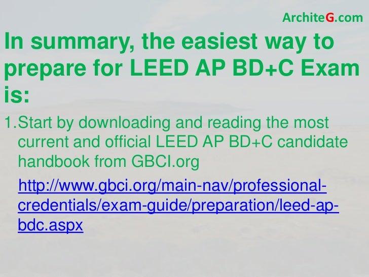leed ap bd c exam prep study guide pdf