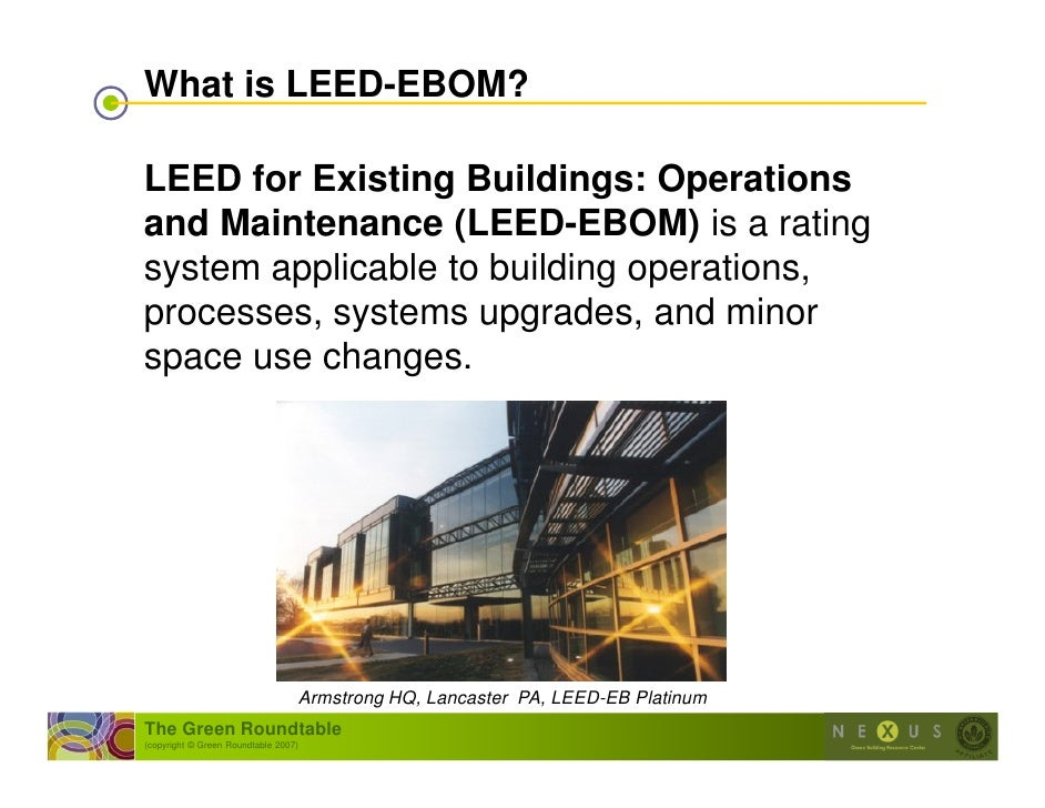 Intro to leed ebom for What is leed