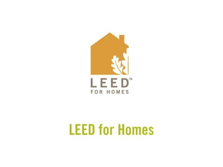 Leed for homes for Leed for homes provider