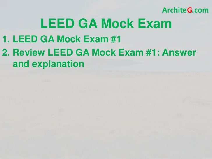 Leed Ga Exam Prep Green Building Leed Certification And Sustainabil