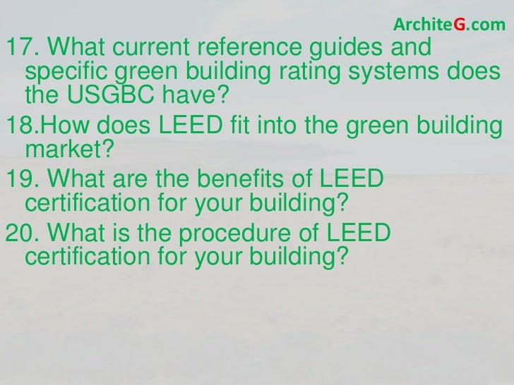 Leed ga exam prep green building leed certification and for Advantages of leed certification