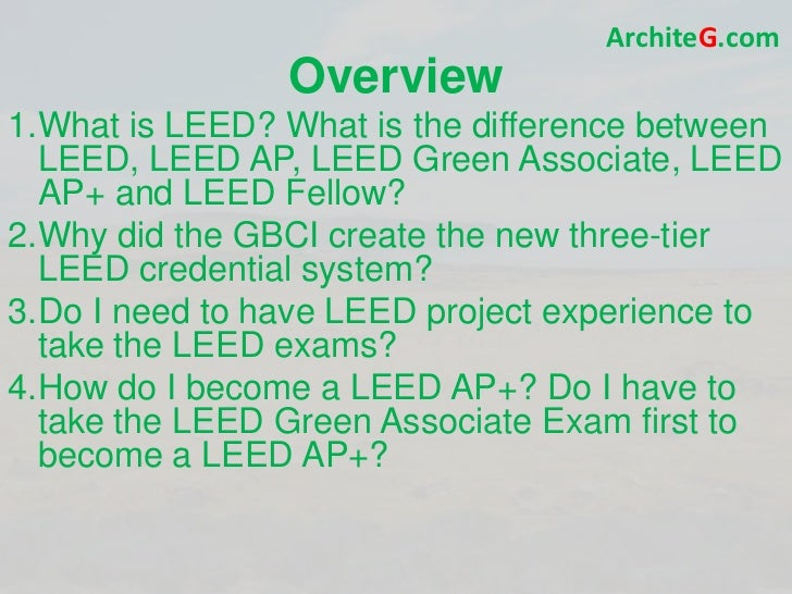 Leed ga exam prep green building leed certification and for What is leed