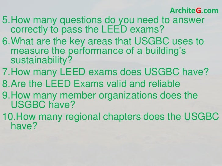 LEED GA EXAM PREP, Green Building LEED Certification, and Sustainabil…