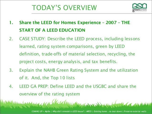 Leed ga exam prep for Leed for homes rating system
