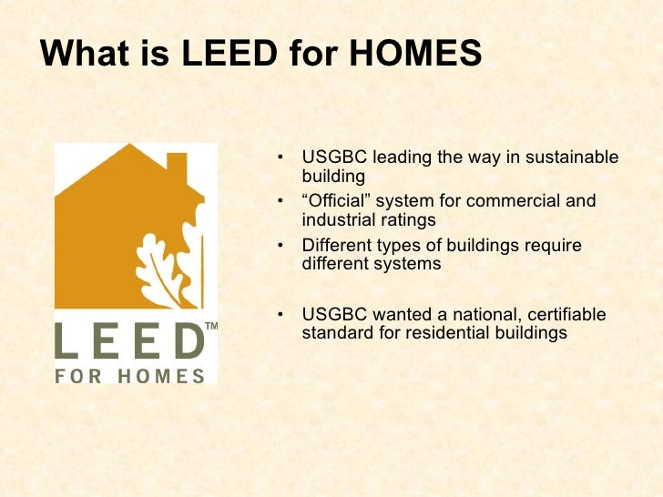 Leed presentation green bldg alliance 12 2 08 for Leed for homes rating system