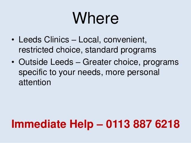 Finding Leeds Alcohol Rehab Help... Slide 3