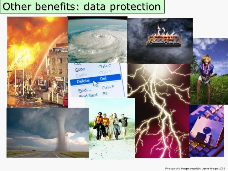 Other benefits: data protection Photographic Images copyright: Jupiter Images 2006