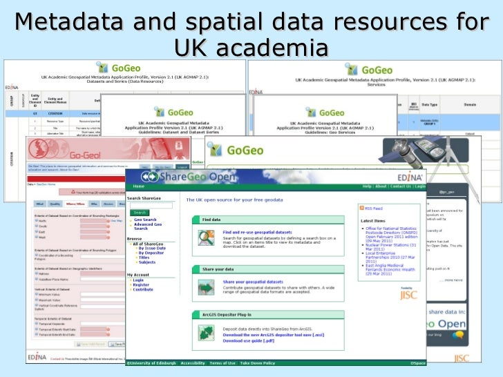 <ul><li>Metadata and spatial data resources for </li></ul><ul><li>UK academia </li></ul>