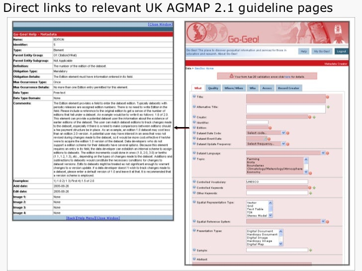 Direct links to relevant UK AGMAP 2.1 guideline pages